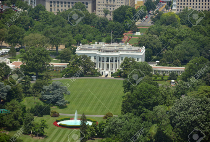 33845871-White-House-Aerial-View-from-the-top-of-Washington-Monument-Washington-DC-USA-Stock-Photo